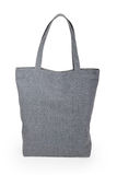 Gray linen bag Stock Photography