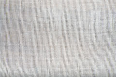 Gray linen fabric closeup Stock Photography