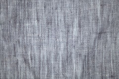 Gray linen fabric Royalty Free Stock Photos