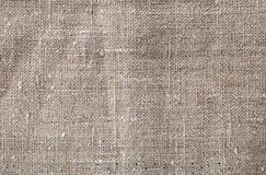 Gray linen texture. Close up of gray linen textile Stock Photography