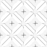 Gray lines with wavy squares seamless Royalty Free Stock Images