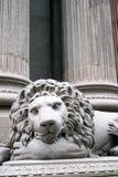 Gray Lion Statue Face Photographie stock libre de droits