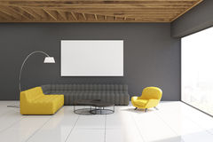 Gray living room interior Stock Image
