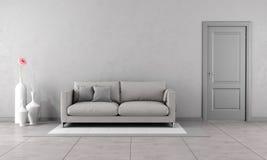 Gray living room Royalty Free Stock Photo