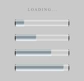 Gray Loading Bars set with shine Royalty Free Stock Photo
