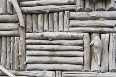 Gray Log Background Royalty Free Stock Photo