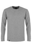Gray long sleeve t-shirt. Isolated on white background Royalty Free Stock Images