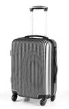 Gray luggage with three handles and four wheels. Modern gray luggage with three handles and four wheels Royalty Free Stock Photography