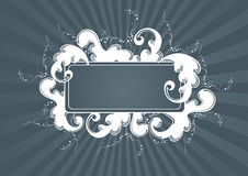Gray luxury frame Stock Images