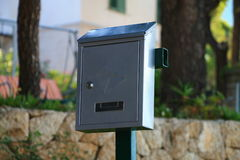 Gray mail box Royalty Free Stock Photos