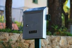 Gray mail box Royalty Free Stock Photos