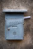 Gray Mailbox. Gray letter box with letter Stock Photos