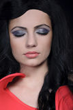 Gray make-up Stock Images