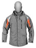 Gray male winter sport jacket Stock Images