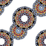 Gray mandalas in line over white background Stock Photo
