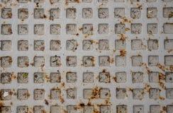 Gray Manhole Cover Close Up photos stock