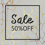 Gray marble texture with gold for sale. Vector decorative background for sale Stock Photos
