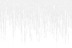 Gray matrix background computer generated Royalty Free Stock Photos