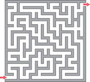 Gray maze. Vector illustration of gray maze Stock Images