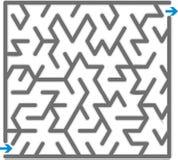 Gray maze Royalty Free Stock Photos