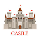 Gray medieval castle with turrets Royalty Free Stock Photography