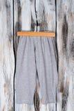 Gray melange sweatpants Royalty Free Stock Photo