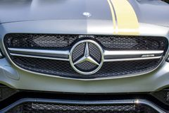 Gray Mercedes Sports Car stock foto's