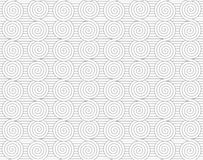 Gray merging Archimedean spirals on continues lines Royalty Free Stock Photography