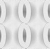 Gray merging ovals with wavy continues lines Royalty Free Stock Photo