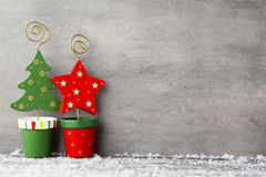 The gray metal background, Christmas decoration. Stock Photography