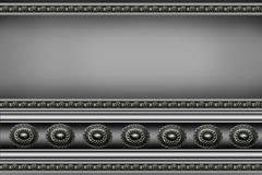 Gray metal background Royalty Free Stock Images