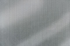 Gray metal background, round perforated metal texture with reflections Stock Photos