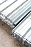 Gray Metal-bladendakwerk royalty-vrije stock foto