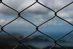 Gray Metal Cage Royalty Free Stock Image