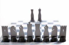 Gray metal chess Stock Image