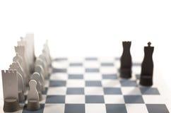Gray metal chess Stock Photos