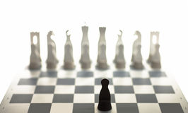 Gray metal chess Royalty Free Stock Images