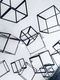 Gray Metal Cubes Decorative royalty free stock images