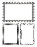 Gray metal frames - set - vector Royalty Free Stock Photography