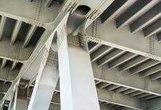 Gray metal framework. Close up. Stock Image