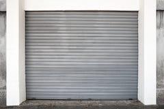 Gray metal garage gate, background texture Royalty Free Stock Photo