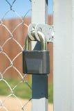 Gray metal Lock closeup Stock Images