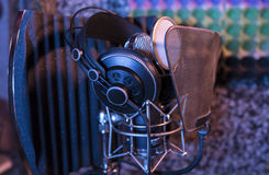 Gray Metal Mic Condenser Stock Photography