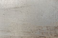Gray metal plate. Clean metal plate, space for text Stock Photography