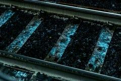 Gray Metal Railway Stock Photography