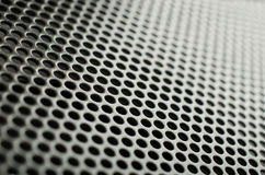 Gray metal speaker mesh Stock Photography