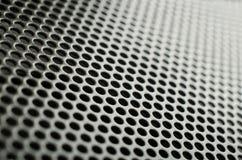 Gray metal speaker mesh Stock Photography