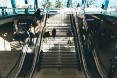 Gray Metal Staircase stock photo