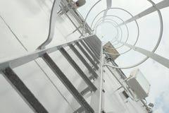 Gray metal stairway Stock Image