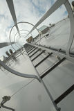 Gray metal stairway Stock Photos